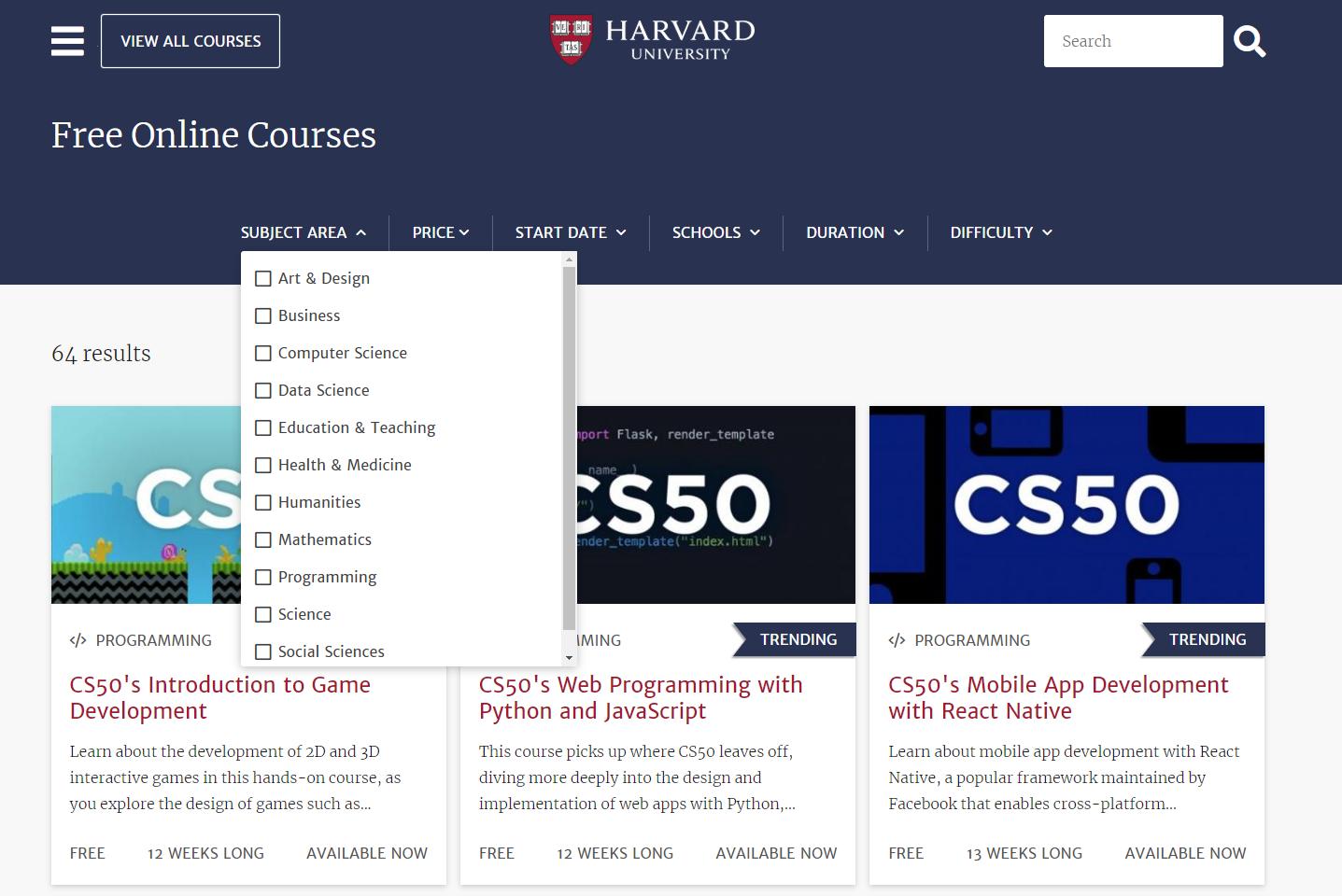 Online Courses – Harvard University