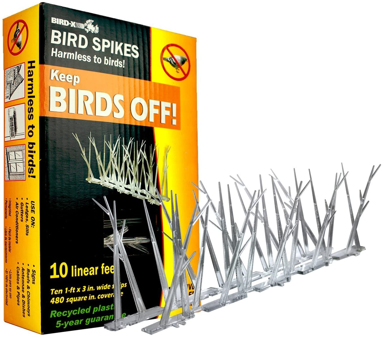 Bird-X – Polycarbonate Bird Spikes