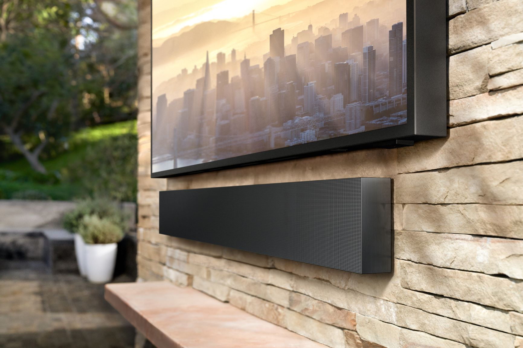 Samsung – Terrace Outdoor TV  & Soundbar