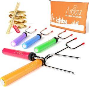 Arres - Telescoping Stainless Steel Roasting Stick Set