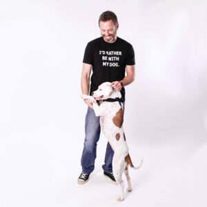 I'd Rather Be With My Dog - T-Shirt