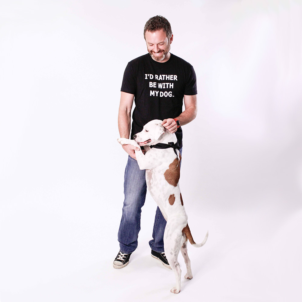 I'd Rather Be With My Dog – T-Shirt