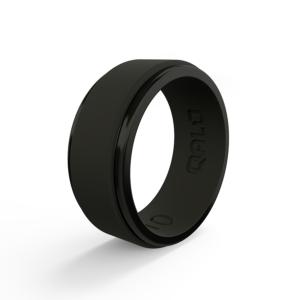 Qalo - Polished Step Edge Silicone Ring
