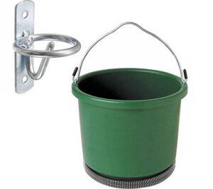 Tough-1- Bucket Hanger & Farm Innovators- Heated Round Plastic Bucket