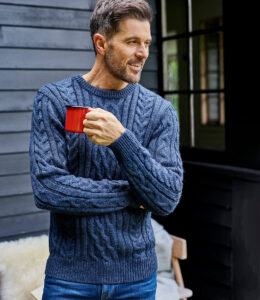 WoolOvers - Pure Wool Aran Knitted Sweater