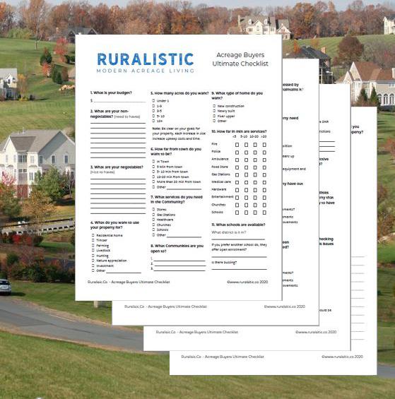 Acreage Buyers Ultimate Checklist