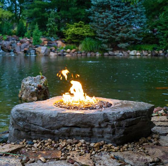 AquaScape – Faux Stone Fire Pit