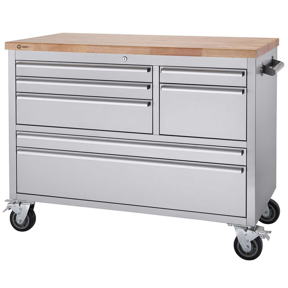 Trinity – 48″ Stainless Steel Rolling Workbench