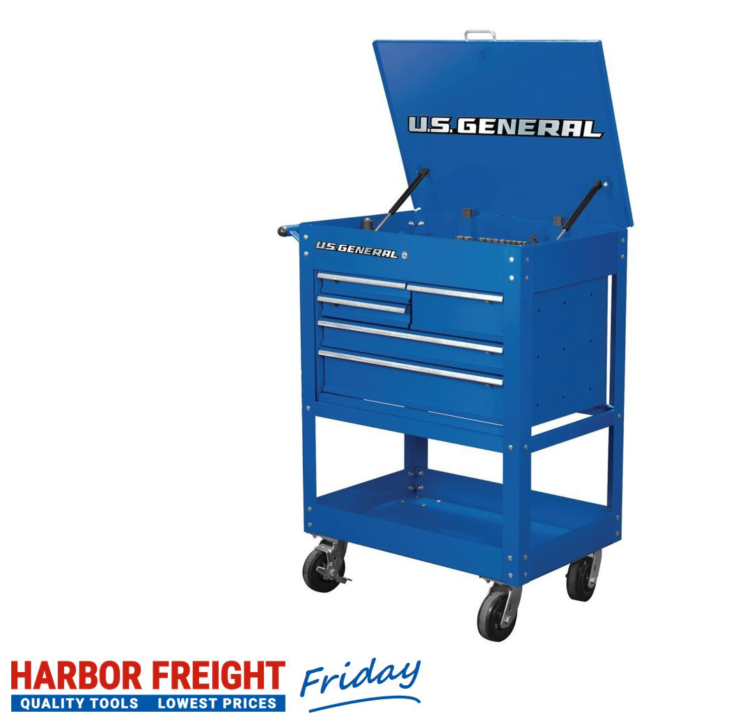 U.S. General – 30 In. 5 Drawer Mechanic's Cart