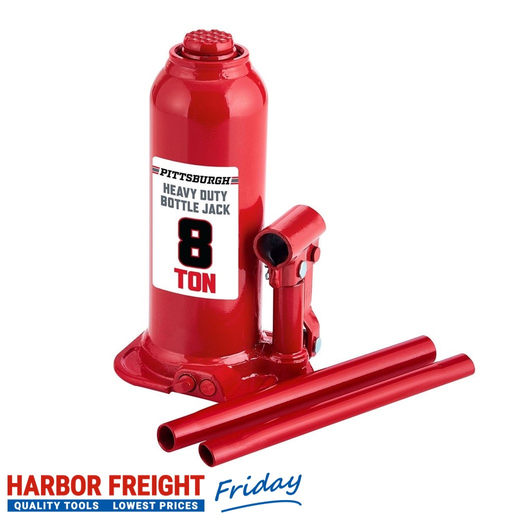 Pittsburgh – 8 Ton Hydraulic Bottle Jack