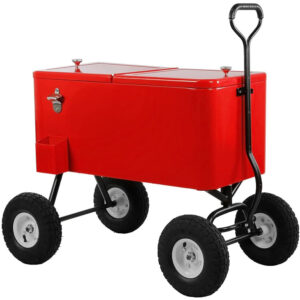 Clevr - 80 Quart Party Wagon Rolling Ice Chest