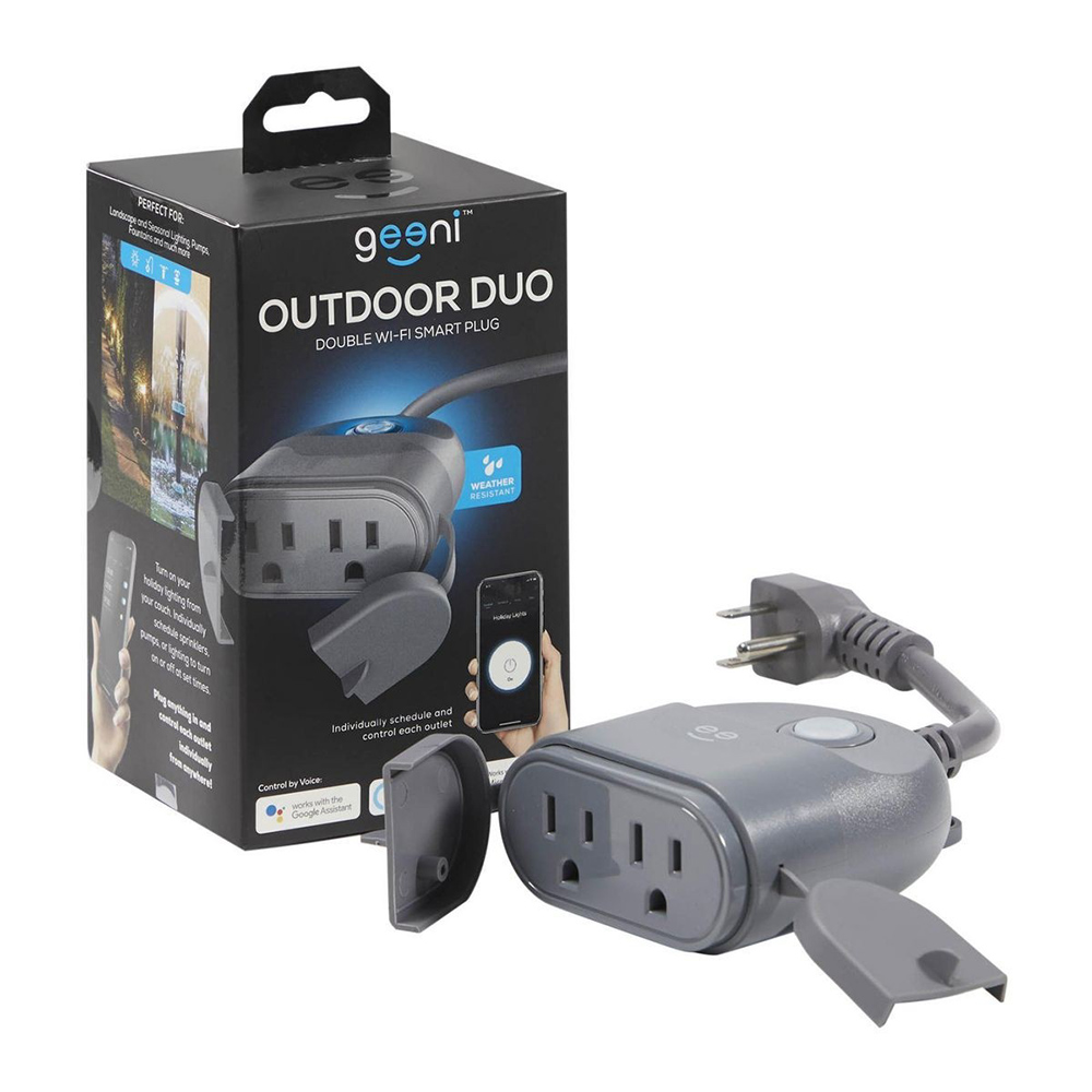 Geeni – Outdoor DUO Dual Outlet Smart Plug
