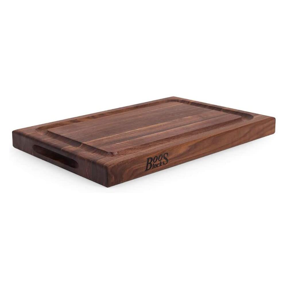 John Boos  – Walnut Cutting Board with Deep Juice Groove