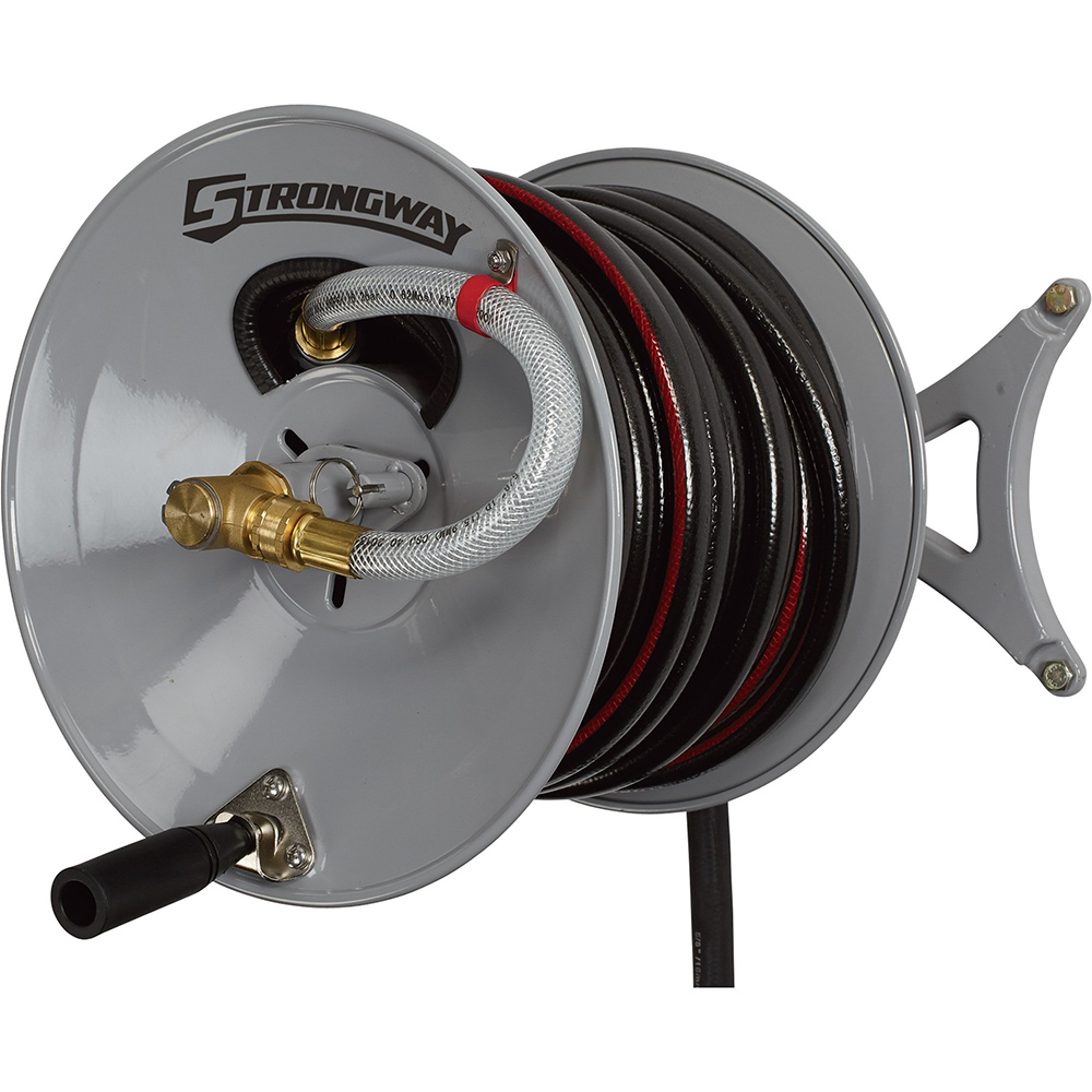 Strongway – Wall-Mount Garden Hose Reel