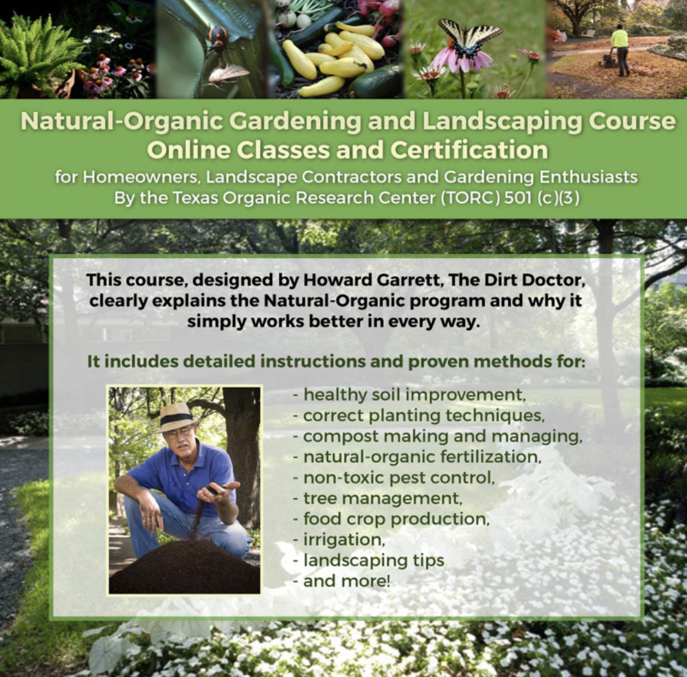 Dirt Doctor - Natural-Organic Gardening and Landscaping Course and Certification