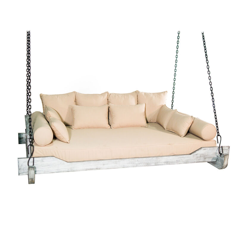 Read more about the article Titan Great Outdoors – Teak Montana Queen-Sized Porch Swing Bed