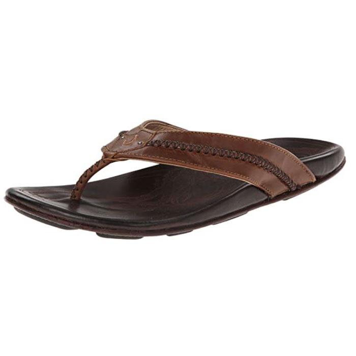 Olukai – Mea Ola Men's Leather Beach Sandals