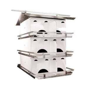 Plow & Hearth - 12-Room Purple Martin Birdhouse with Starling-Resistant Openings