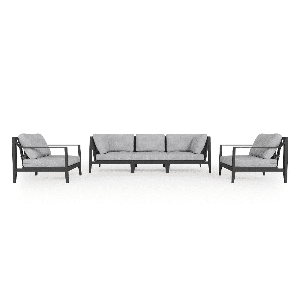 Read more about the article Outer –  Aluminum Outdoor Sofa with Armchairs