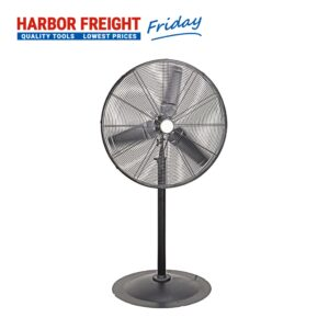 Central Machinery - 30 In. Pedestal High Velocity Shop Fan