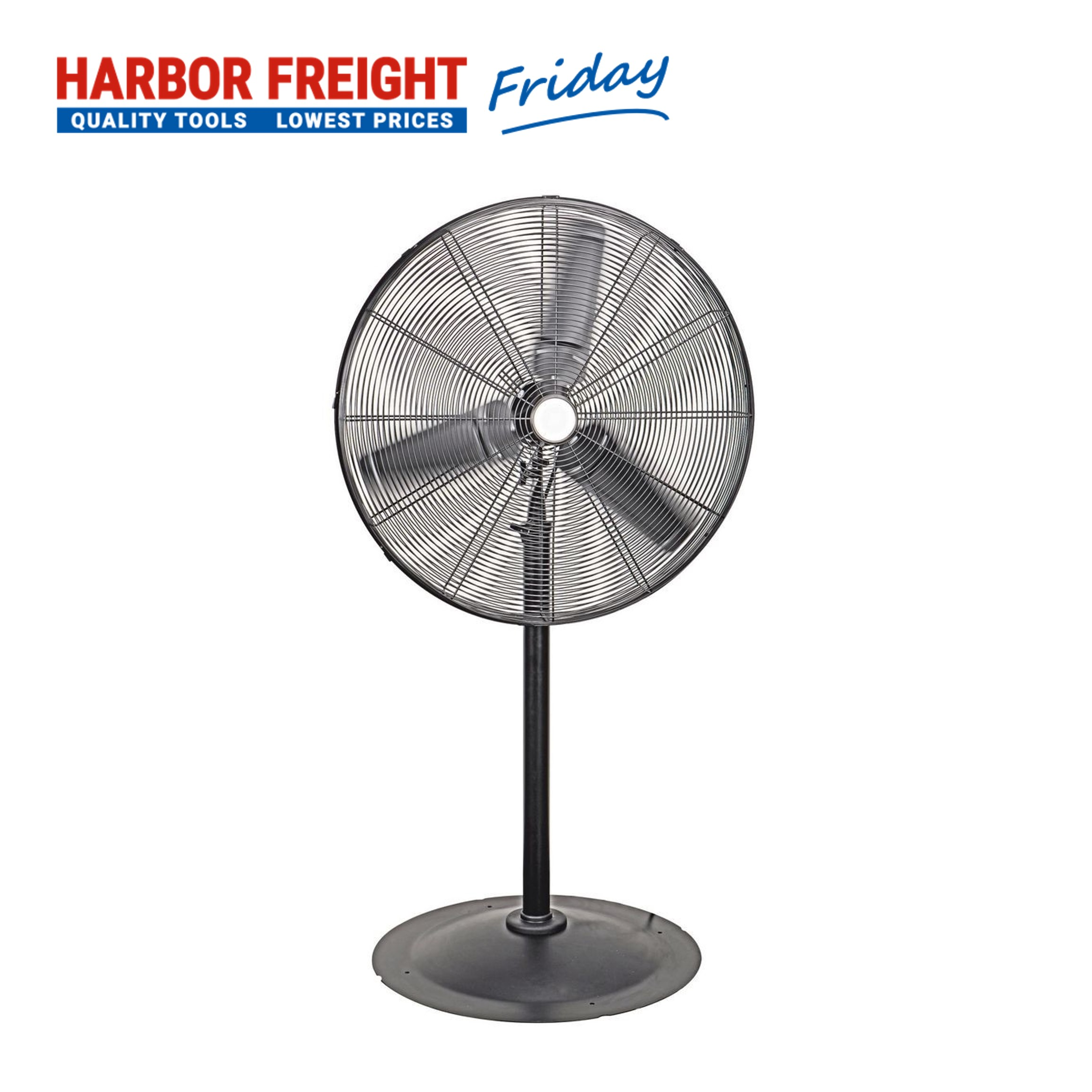 Read more about the article Central Machinery –  30 In. Pedestal High Velocity Shop Fan