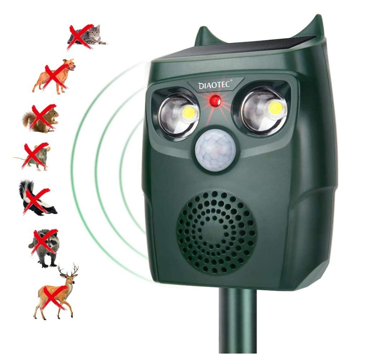 Diaotec – Solar Powered Ultrasonic Animal Outdoor Repeller