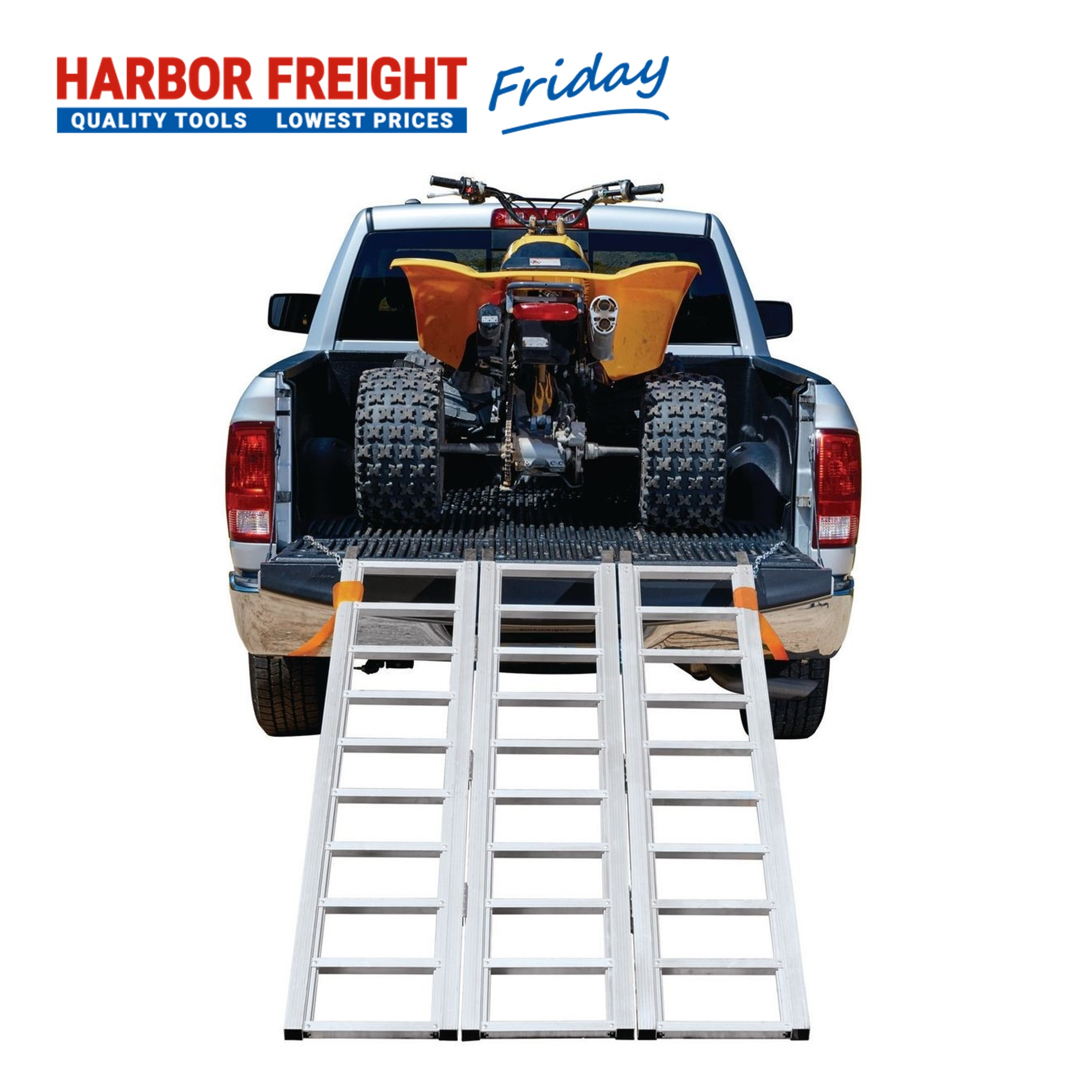 Read more about the article Haul-Master – 1500 lb. Capacity Trifold Aluminum Ramp