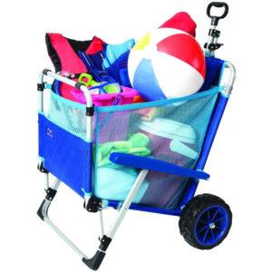Mac Sports - 2-in-1 Beach Day Folding Lounge Chair + Cargo Cart