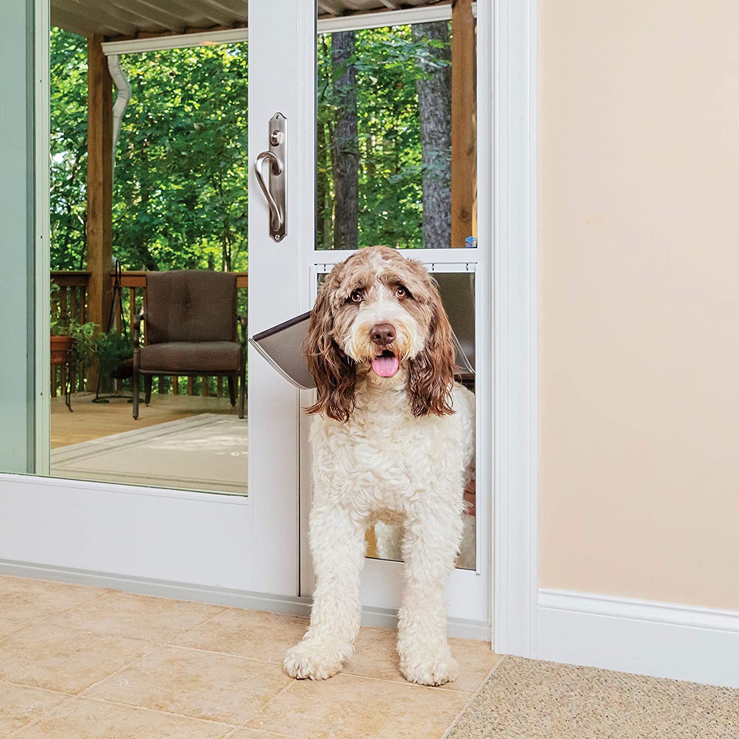 PetSafe – 1-Piece Sliding Glass Door Insert for Dogs and Cats