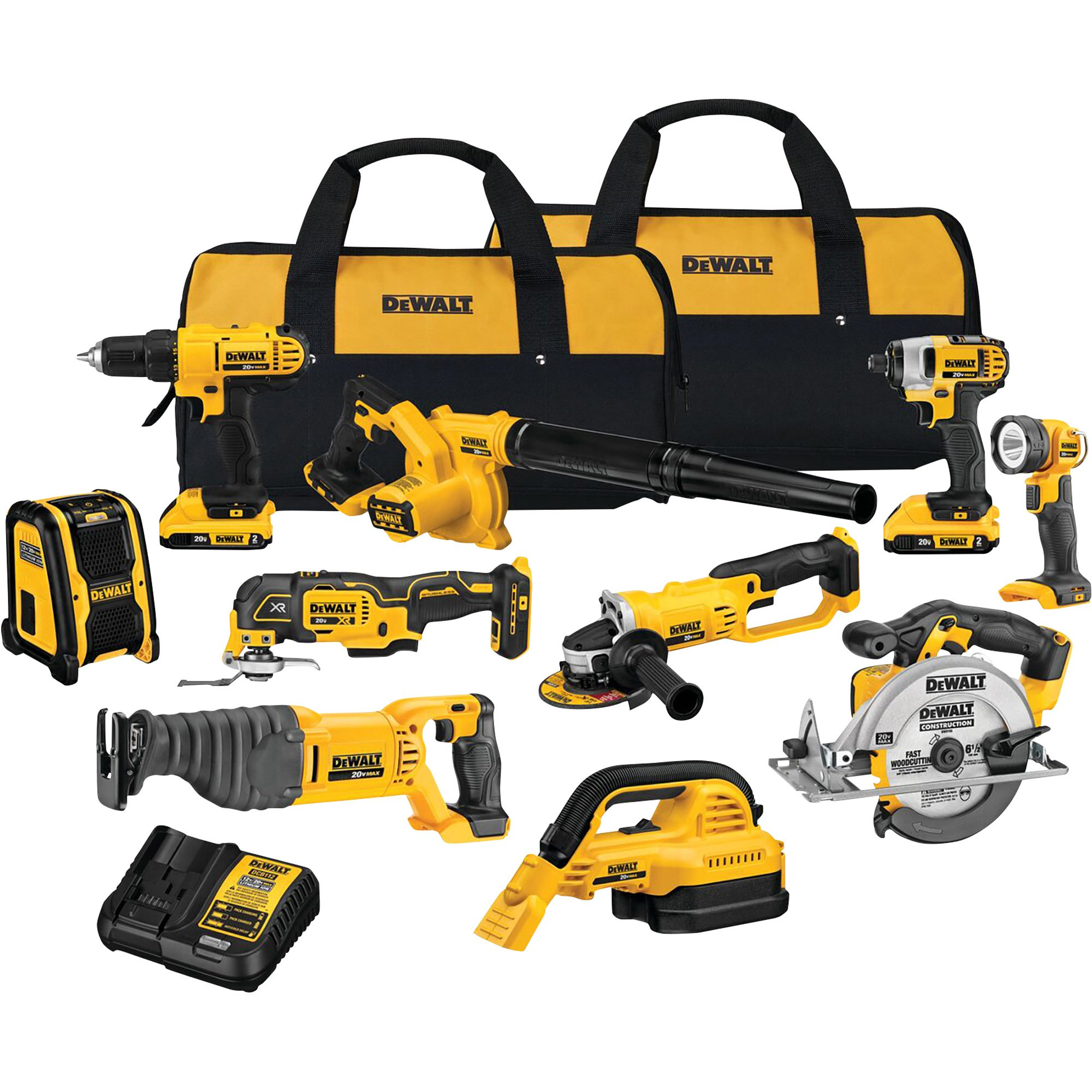 Read more about the article DEWALT – 20 Volt MAX 10-Tool Cordless Combo Kit