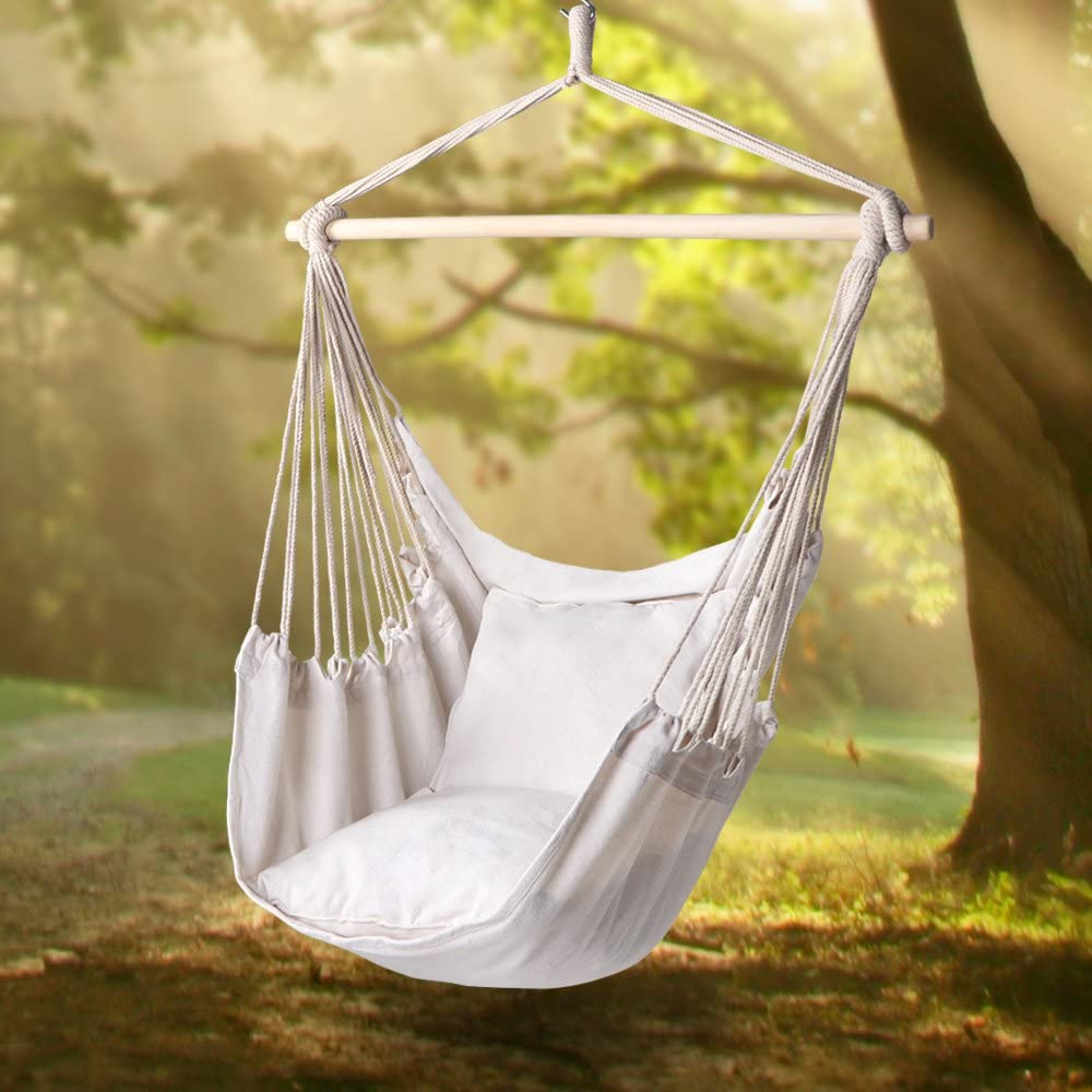 Read more about the article Y-STOP –  Hanging Hammock Rope Chair
