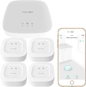 YoLink - Wireless Smart Home Water Sensor 4-Pack